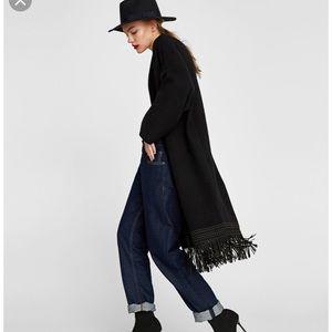 Zara Long Jacket with Fringes